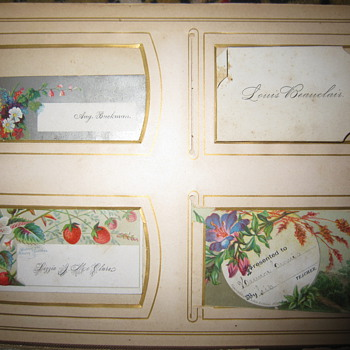 Victorian Calling Cards - Cards