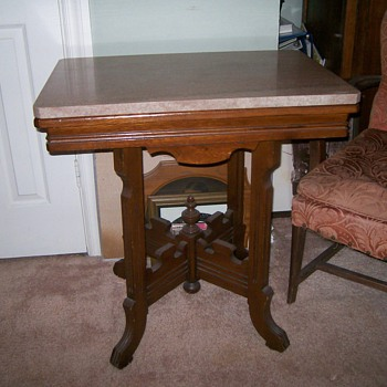 1880 Victorian Marble Top Table - Furniture