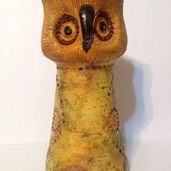 ROSENTHAL ALDO LONDI ITALIAN POTTERY OWL.