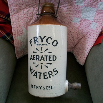 Fryco Aerated Waters Stone Ware Flagon - Bottles