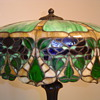 GREAT LEADED GLASS LAMP, D&K?