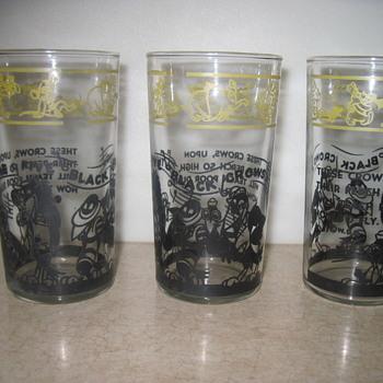 Disney Five Black Crows glassware