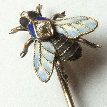Bzzz again! Enamel fly stick pin.