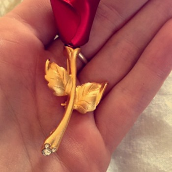Disney rose broach