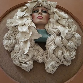 ART NOUVEAU LADY by Elaine Ware and Paul Fleming (siblings) - Art Pottery