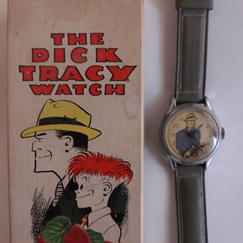 "1951 ""Animated"" New Haven Dick Tracy Wrist Watch - Wristwatches"