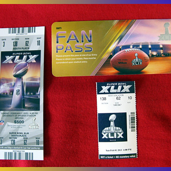Super Bowl XLIX unusual tickets - Football