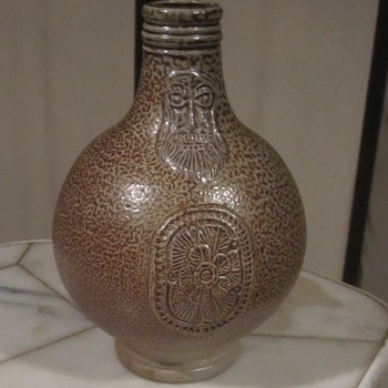 Jamestown Pottery Reproduction Bellarmine / Bartmann Jug 1978