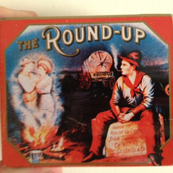 The Round up Cigar tin - Tobacciana