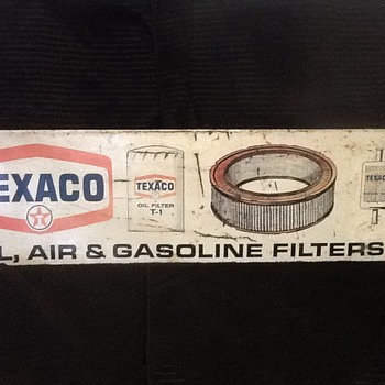 TEXACO TIN SIGN - Signs