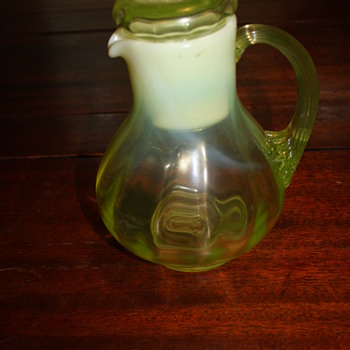 water pitcher and cup - Art Glass