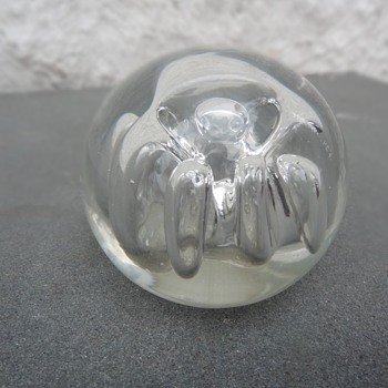 """R. Kara"" (?) Glass Paperweight"