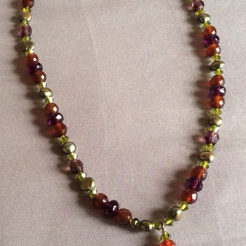 Multi stone necklace  - Costume Jewelry