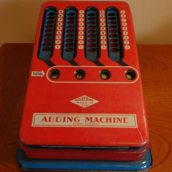 C.1940S - EARLY 1950 WOLVERINE ADDING MACHINE TIN TOY- USA - Toys