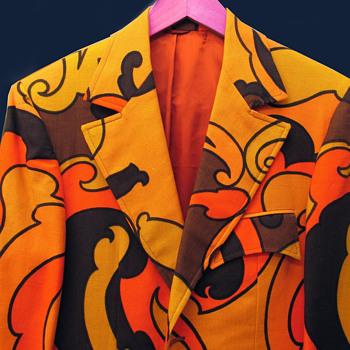 Vintage 1973 Psychedelic MOD era Custom Made Sportscoat