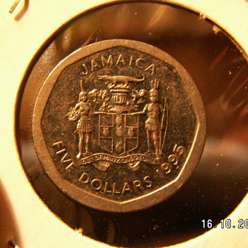 1995 Jamaica $5  - World Coins