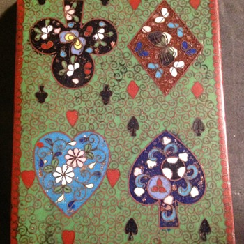 Cloisonné playing card box - Games