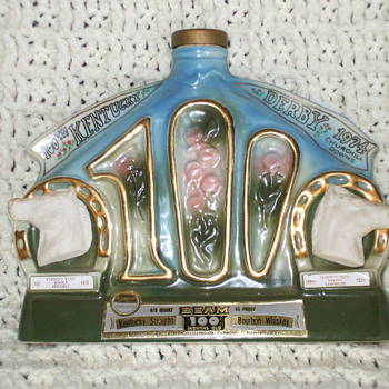 Jim Beam 1974 Kuntucky derby bottle  - Bottles