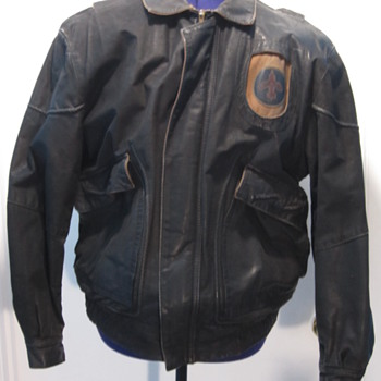 F4 Designer Leather Bomber Style Jacket - Mens Clothing