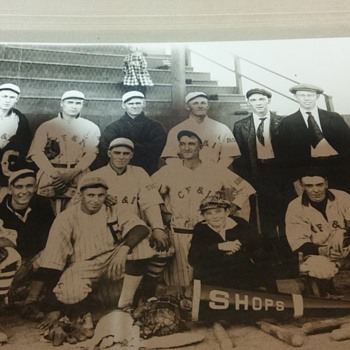antique baseball photo