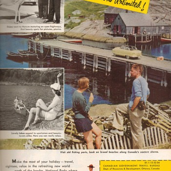 1952 - Canada Travel Bureau Advertisement