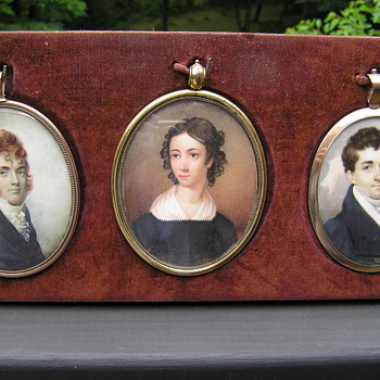 A Trio of Miniature Paintings on Ivory - Photographs