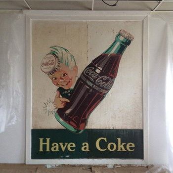 &quot;Have a Coke&quot; large &quot;Sprite Boy&quot; sign