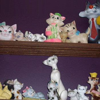 My goofy cat collection. - Art Pottery