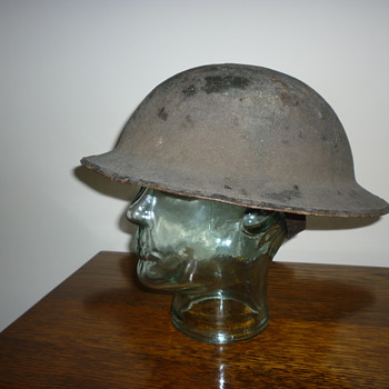 British WWI Cammo steel helmet. - Military and Wartime