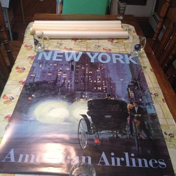 new york city american airlines travel poster! why is the color so vibrant??