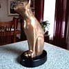 "Floyd T. DeWitt Bronze Sculpture / Art Deco ""Bast"" Style Cat / Circa 1960"