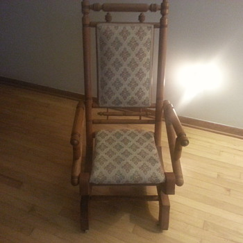 rocking chair with front wheels