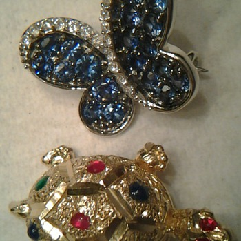 14k Turtle & 14k Butterfly  - Fine Jewelry