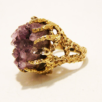 Vintage Panetta Raw Amethyst Ring