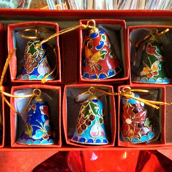 Cloisonne Christmas Bell Ornaments!