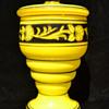 decorated yellow jar