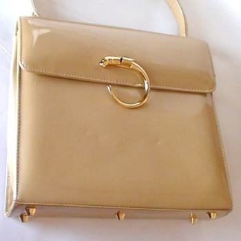 CARTIER Handbag Vinyl Panthere made in the 1960&#039;s  Please if you know I&#039;m wrong tell me