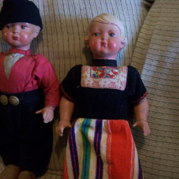"Dutch 17"" Walker dolls"