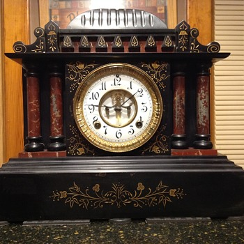 Ansonia open escapement mantel clock - Clocks