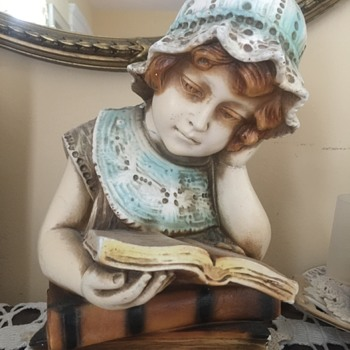 Reading Girl Figurine