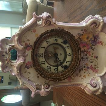 Ansonia Porcelain Mantle Clock 1881