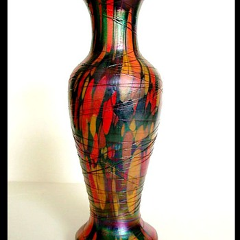 Rare 1925 Fenton Off Hand Mosaic Vase. - Art Glass