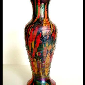 Rare 1925 Fenton Off Hand Mosaic Vase.