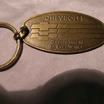Old Chevy Keychain - Advertising