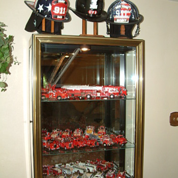 Helmets, Leather, Aluminum and Composite + Tribute to 9-11 losses - Firefighting