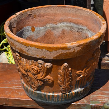 An Old Mexican Flower Pot - Art Pottery