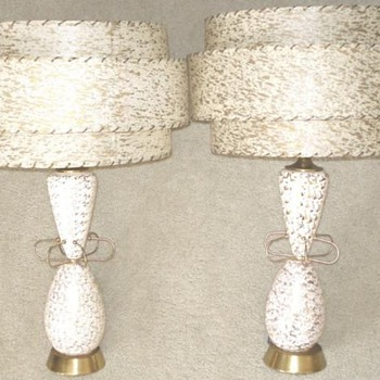 marvelous mcm pair of lamps