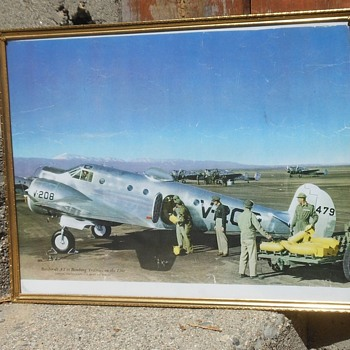 Beechcraft AT-11 Bomber Trainer Vintage Framed Photo