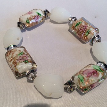 Vintage glass bracelet