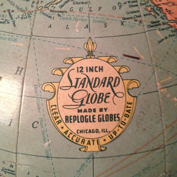 Mid-20th century globe (Repogle Globes) - Office